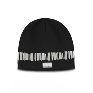 Cool reflective beanie in a trending black color. Reflectivepattern of northern lights