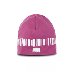 Designed reflective beanie in a cool pink color. Reflectivepattern looks like northern lights goes around the hat